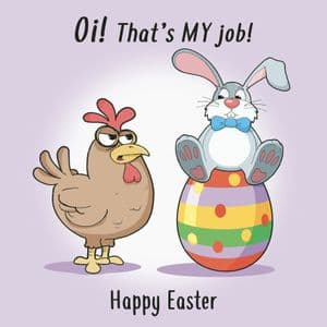 CS30 - Funny Easter Card That's My Job